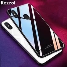 Rezzol для Xiao mi pocophone f1 защитное стекло Жесткий чехол с силиконовой рамкой для Poco F1 Xiaomi mi 8 SE Капа