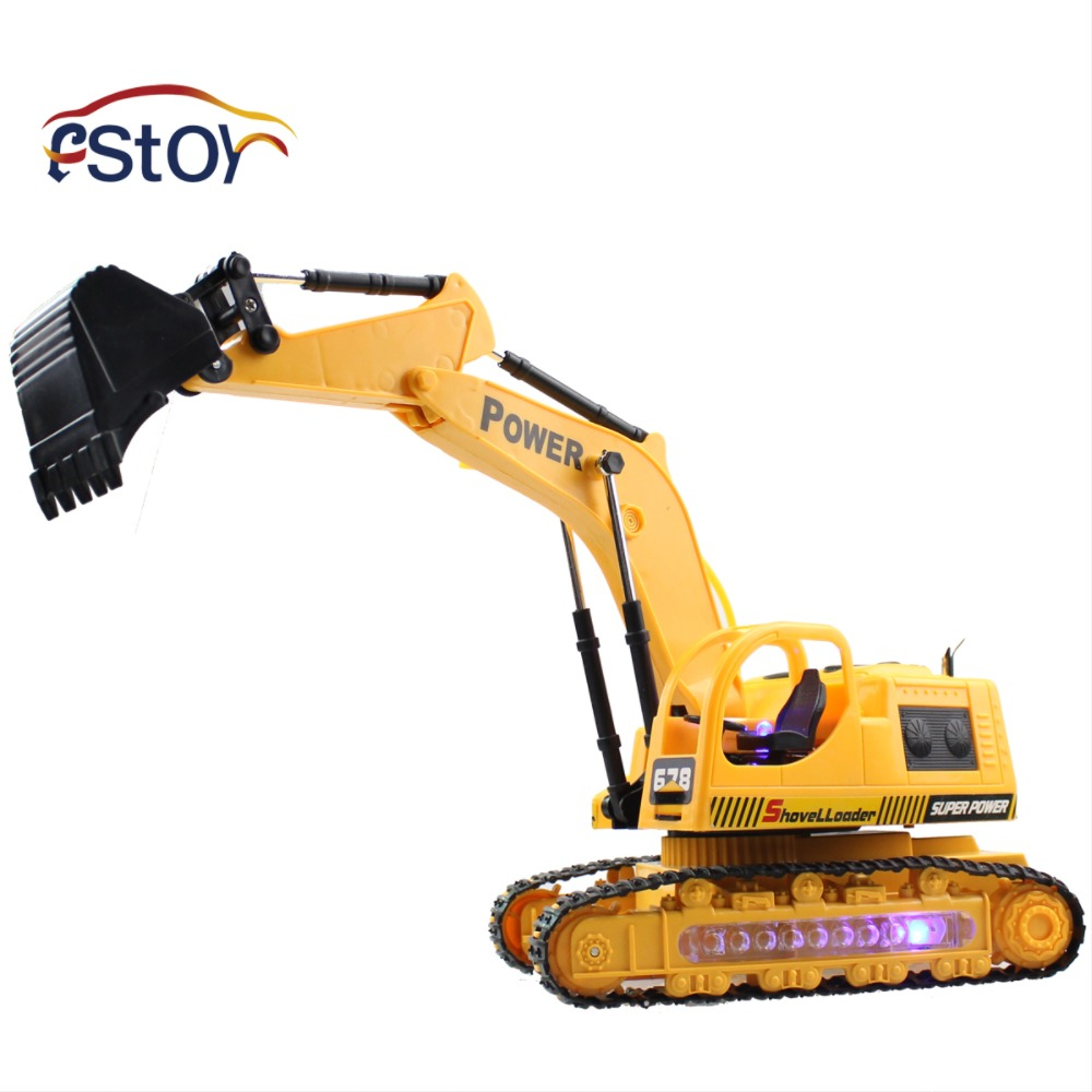 RC Excavator Caterpillar Digger Remote Control Crawler Construction Truck Engineer Electric Toys