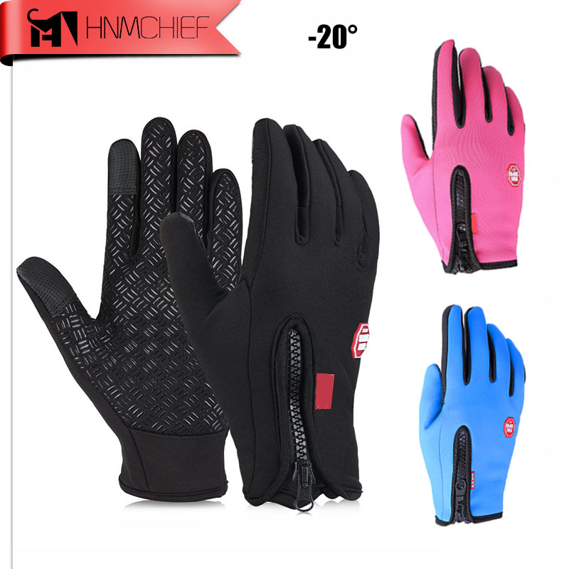 2017 HNM Brand Women Men Ski Gloves Snowboard Gloves Motorcycle Riding Winter Touch Screen Windstopper Outdoor Sports Snow Glove