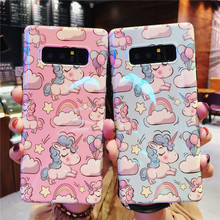 Cartoon Case for Samsung S9 Plus Cases S8 Back Cover Lovely Unicorn Funda Note 9 Phone  Note8 Fitted