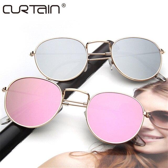 463b34bd1355 2017 ретро круглые очки женские и мужские брендовые дизайнерские  солнцезащитные очки для женщин зеркальные солнечные очки