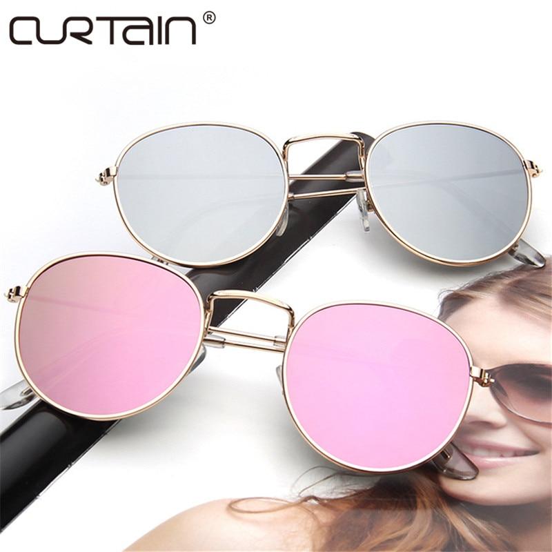 2019 gafas de sol redondas retro mujeres hombres diseñador de marca Gafas de sol para mujer Gafas de sol con espejo de aleación lentes femeninas gafas de sol