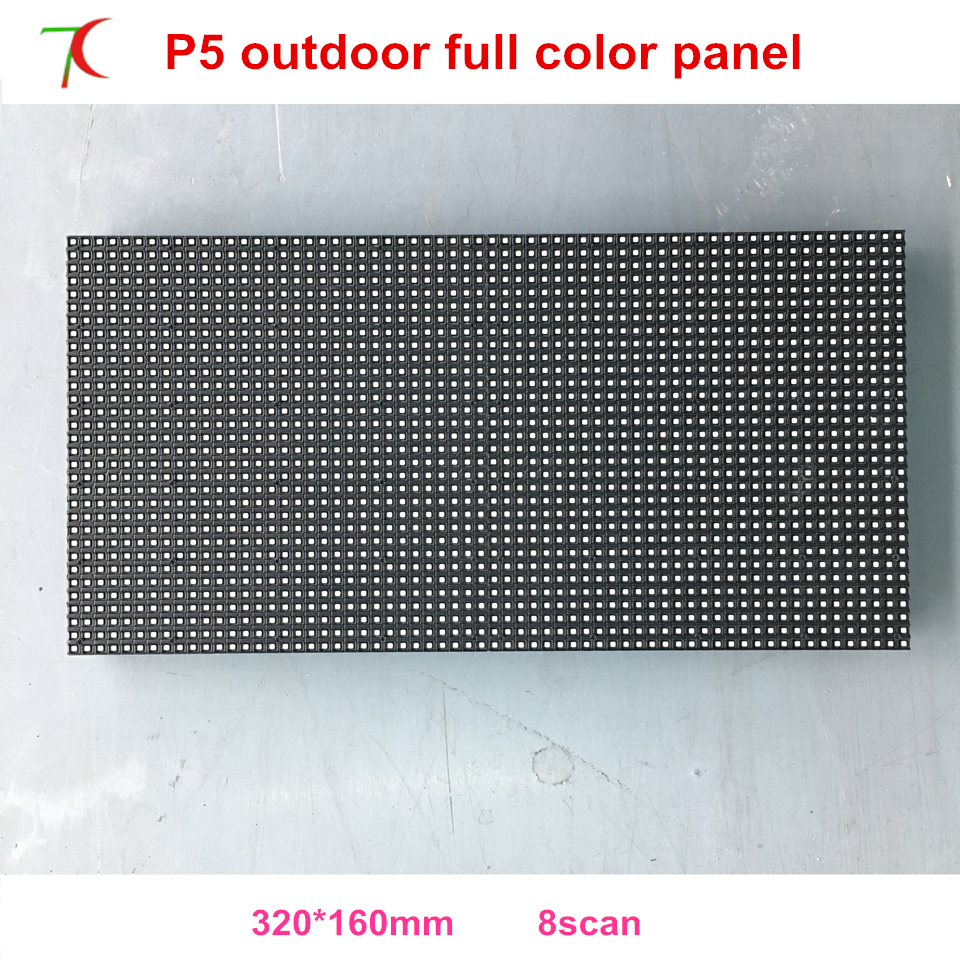 Nationstar/Kinglight  SMD2727  Lamps P5 Outdoor Waterproof  8scan Full Color Led Module. 320*160mm,6000cd