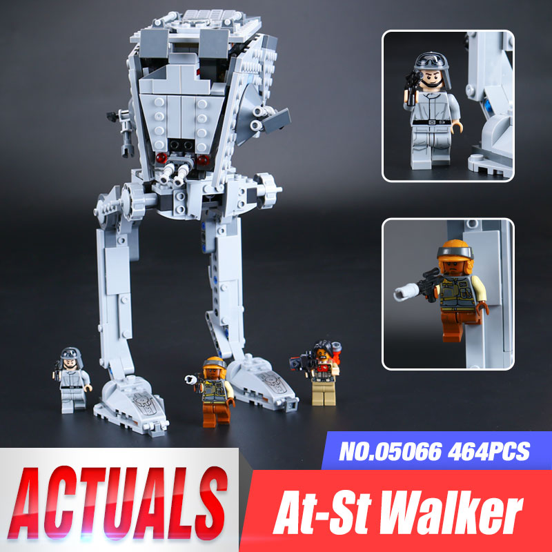 Lepin 05066 471Pcs Star Series War The Rogue One AT set ST Walker Educational Building Blocks Bricks Gifts Toys legoing 75153 w 29 at at walker style wall sticker