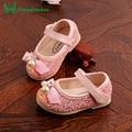 Garoto Menina Sapatos 2016 Designer Bonito Pérola Chaussure Enfant Princesa Paillette Sapatas Dos Miúdos Meninas Crianças Lantejoulas Sapato Walker.