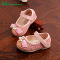 Kid Girl Shoes 2016 Designer Beautiful Pearl Chaussure Enfant Princess Paillette Kids Girls Shoes Children Sequins Walker Shoe.