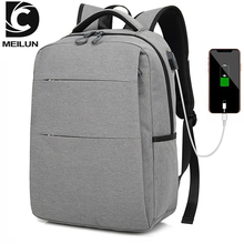 DC.MEILUN USB charging Business Computer Backpacks Anti-theft Waterproof Travel Bags For Men School Backpack Bag For Teens Boys unisex laptop backpacks anti theft bags for men s for women oxford usb composite for school trip for teens green shoulder bag