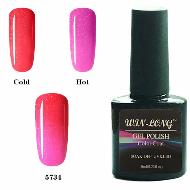 Thermal Heat Cold Colors Gel Nail Polish Changing Color Soak Off Semi Permanent