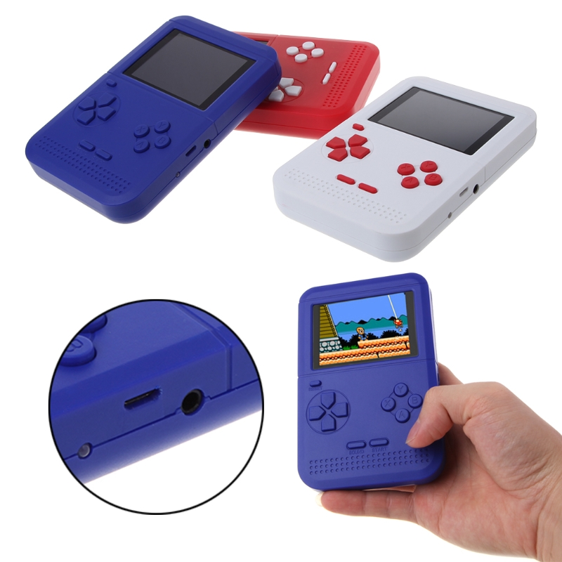 "High Quality 2.6"" LCD Screen Handheld Game Player Built-In 300 Classic Video Game Console  Rechargeable Game Players Gifts"