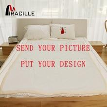 Miracille индивидуальные пледы одеяло плюшевые одеяла на заказ Печать по требованию шерпа Флисовое одеяло для кровати POD Прямая поставка