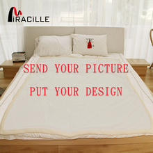 Miracille Customized Throw Blanket Plush Personalized Blankets Print on Demand Sherpa Fleece Blanket for Beds POD Drop Shipping