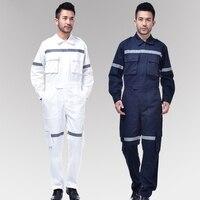 Nieuwe mannen Werk kleding Reflecterende Strip Overall Werken Overalls Winddicht Road Veiligheid Uniform Workwear Maritieme Kleding