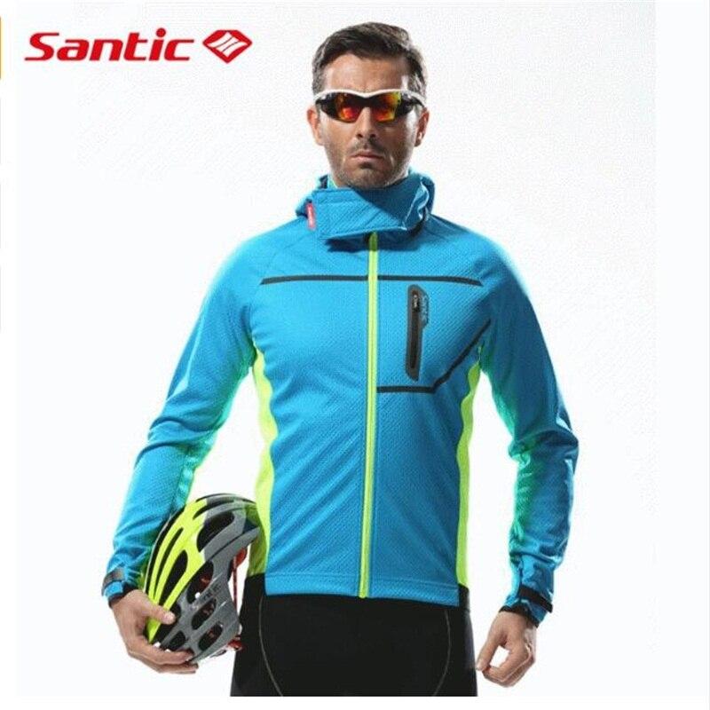 Здесь продается  Santic Thermal Hooded Cycling Jacket Composite Carbon Fiber Windproof & Waterproof MTB Bike Jersey Sports Windbreaker   Спорт и развлечения