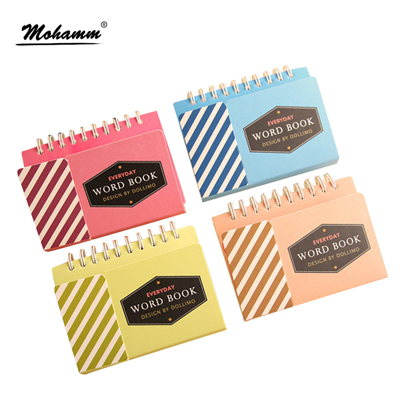 10.5x8.3cm Cute Kawaii Learn Foreign Vocabulary Language Study Remember Words Book Wordbook For Children School Supplies