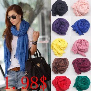 Hot-Sale-2015-New-Brand-Fashion-Cotton-Flax-Blending-Summer-Scarf-Women-180-50cm-Solid-Long