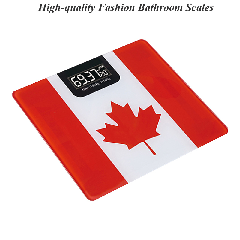 New Maple Leaf Cat Tempered Glass Floor Scales Household Bathroom weight Scales