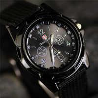 Reloj deportivo de nueva marca, de nailon, de cuero para hombre, resistente al agua, reloj de cuarzo para hombres, reloj de cuarzo para exteriores, reloj de meskie para hombre