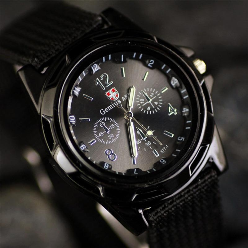 купить New Brand Sport Watches Men Leather Nylon Military Army Waterproof clock Men Outdoor Quartz watch zegarki meskie reloj hombre по цене 67.13 рублей