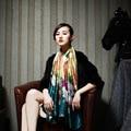 2016 Luxury Brand New Летняя Мода Шарф женщин Живописи Тушью Дизайн Тенсел Шелковый Шарф Дамы Воздуха Условного Платки Платки