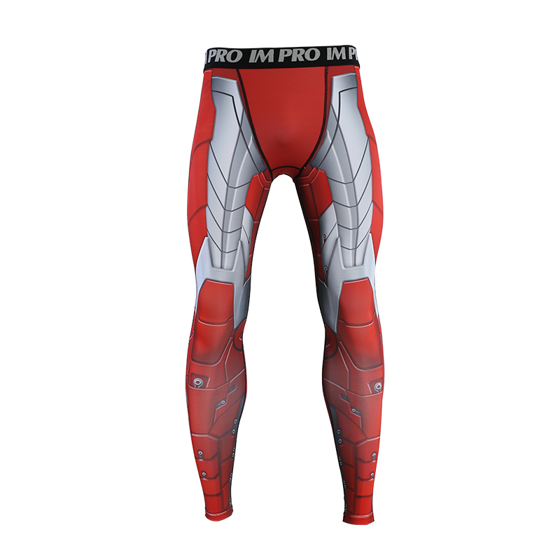 Trousers Male Leggings Iron-Man Printed-Pattern Compression-Tights-Pants Skinny 3D MK5
