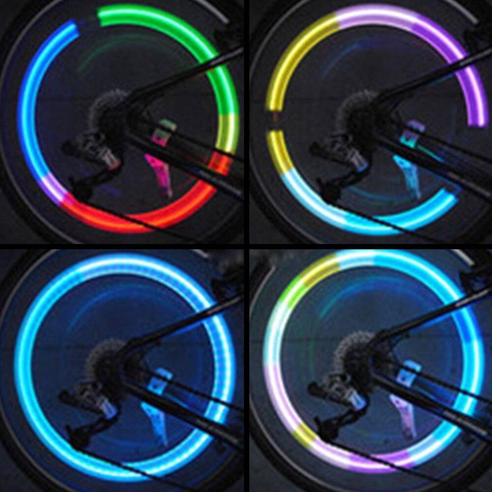 2 Stücke Bike Led Rad Lichter Reifen Reifen Ventil Kappe Neon Radfahren Fahrrad Rad Caps Firefly Spoke Licht Bunte /rot/blau/grün Waren Jeder Beschreibung Sind VerfüGbar