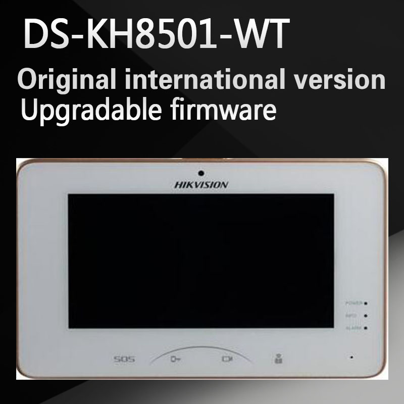 Free shipping Hikvision DS-KH8501-A(DS-KH8501-WT) Indoor Video Touchscreen 10-inch Monitor 1024X600 0.3MP camera,wired doorbell 5pcs free shipping zp9098 101 touchscreen