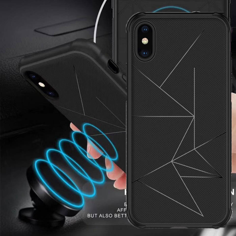 Car Holder Magnetic Geometry TPU Case For Iphone X SE 5 5S 6 6S 7 8 Plus Xiaomi Redmi 5 Note 5 Pro S2 Vivo V9 Oppo F5 Phone Case