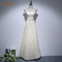 Long Mother Of Bride Dresses V Neck Sleeveless A Line Floor Length Simple Lace Gown Vestido