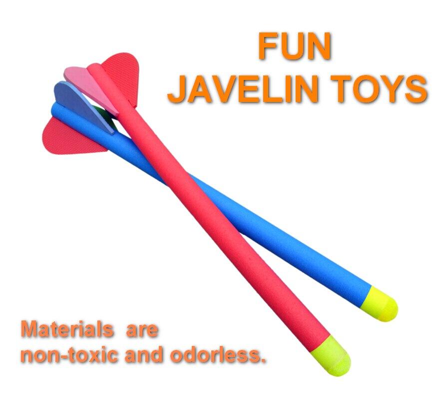 Amusement incroyable javelot jouets doux non toxique inodore enfants en plein air piste et champ enseignement shool cadeau pour enfants jouets