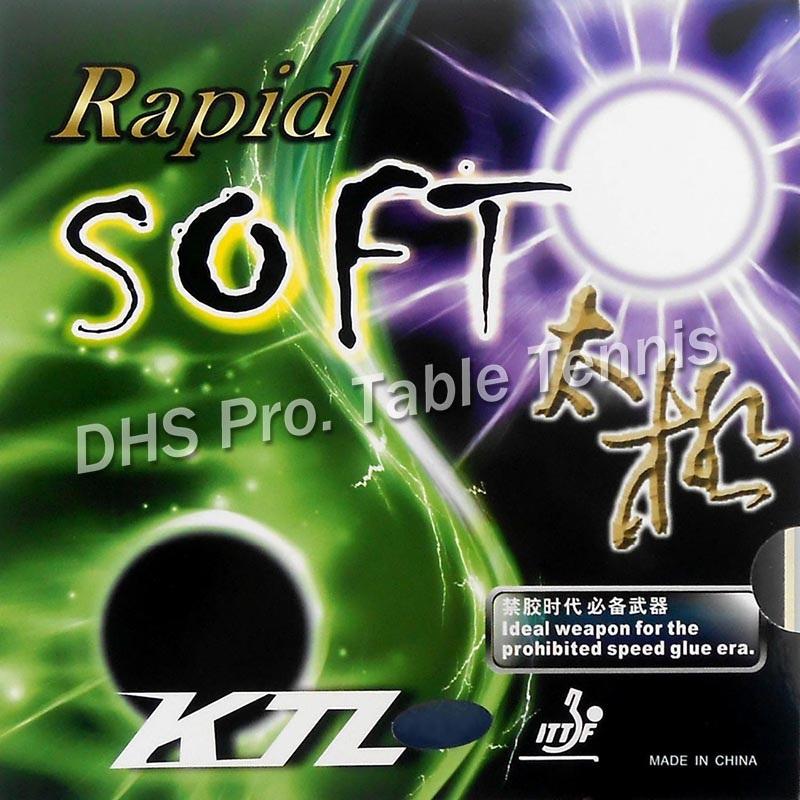 KTL Rapid SOFT Pips-In Table Tennis Rubber With Sponge