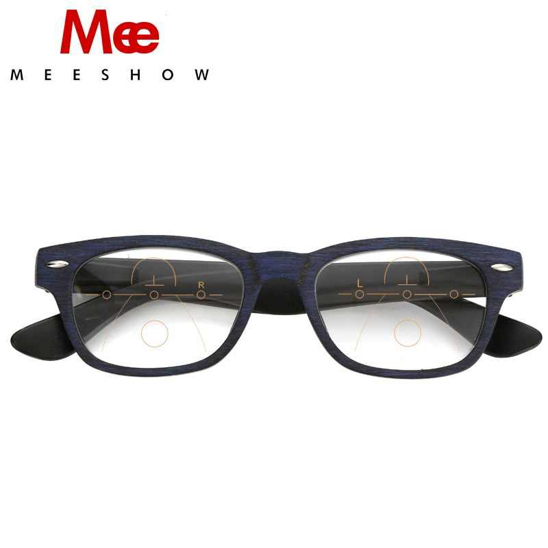 MEESHOW woody reading glasses Man eyeglasses French concept Upgraded women's purple glasses for reader +1.50 +2.0 +2.5 1512