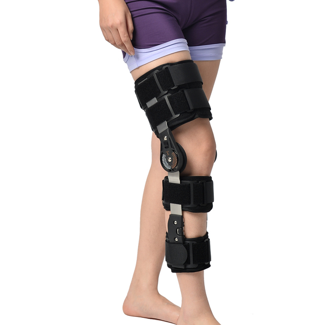 76ce02b962 Post-Op Knee Brace fixed adjustable knee holder after ligaments meniscus  injury lower limb fracture