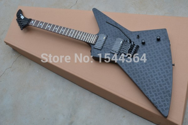 E SP - Retail Explorer electric guitar Artistic beautyblack with satin black black hardware finished EMS FREE SHIP