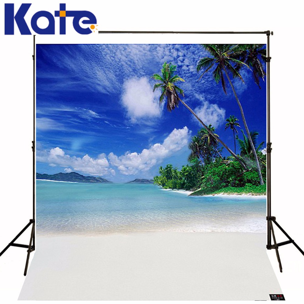 Kate 10x10ft Seaside Beach Photo Background Studio Prop Coastal Skyline3D Baby Photography Backdrop Beach Background LK 1896 kate photo backdrop beach baby