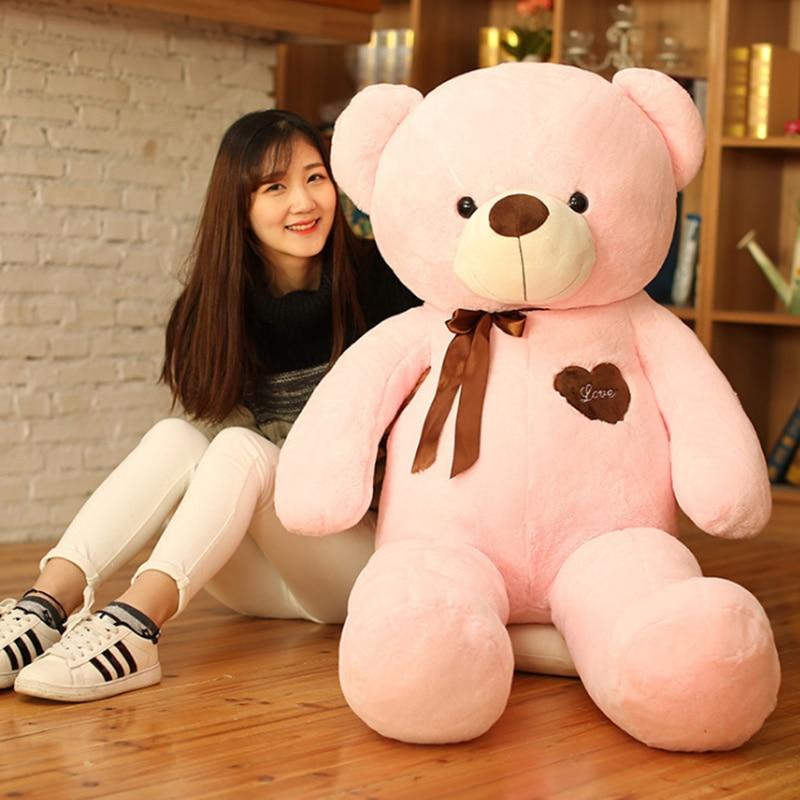 Amour ruban ours Grand ours en peluche jouets pour enfants nous nu ours kawaii ours en peluche jouets en peluche kawaii peluche filles valentine jour cadeaux