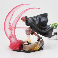 One Piece Red Hair Pirates Shanks PVC Action Figure 17cm