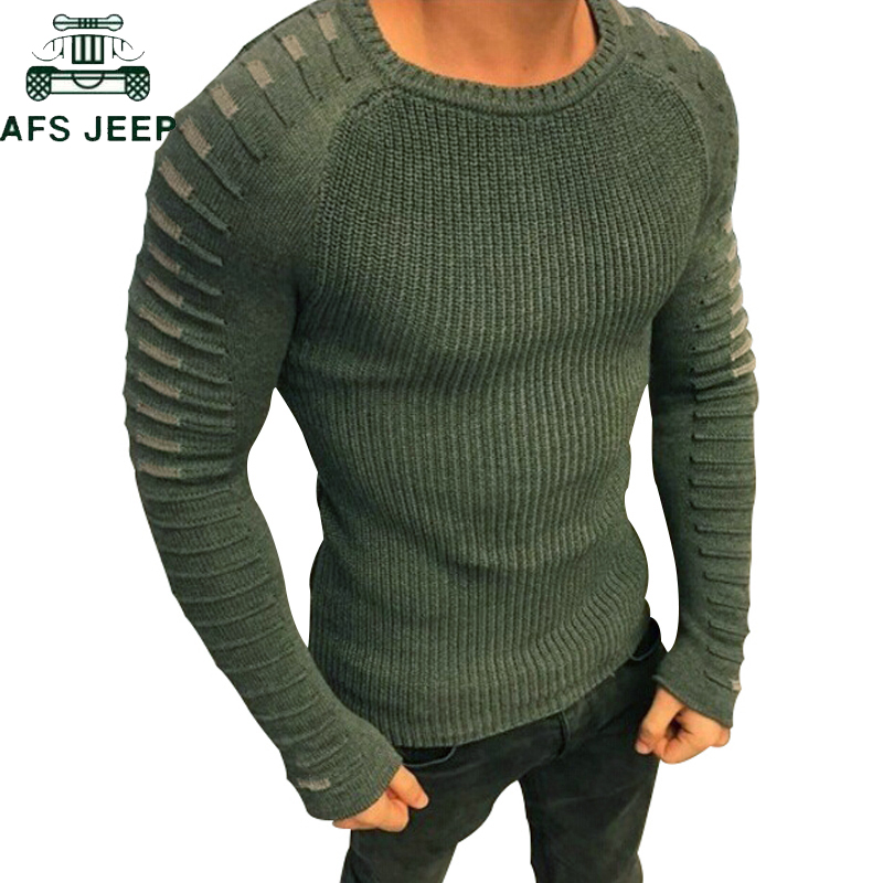 New 2018 Autumn Winter O-Neck Sweater Men Plus Size M-3XL Casual Slim Fit Pullover Men Knitted Pullover Sweaters Sueter Hombre