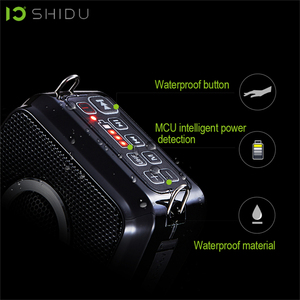 Image 3 - SHIDU 25W 휴대용 음성 증폭기 방수 미니 오디오 스피커 USB Lautsprecher UHF 무선 마이크 교사 S92