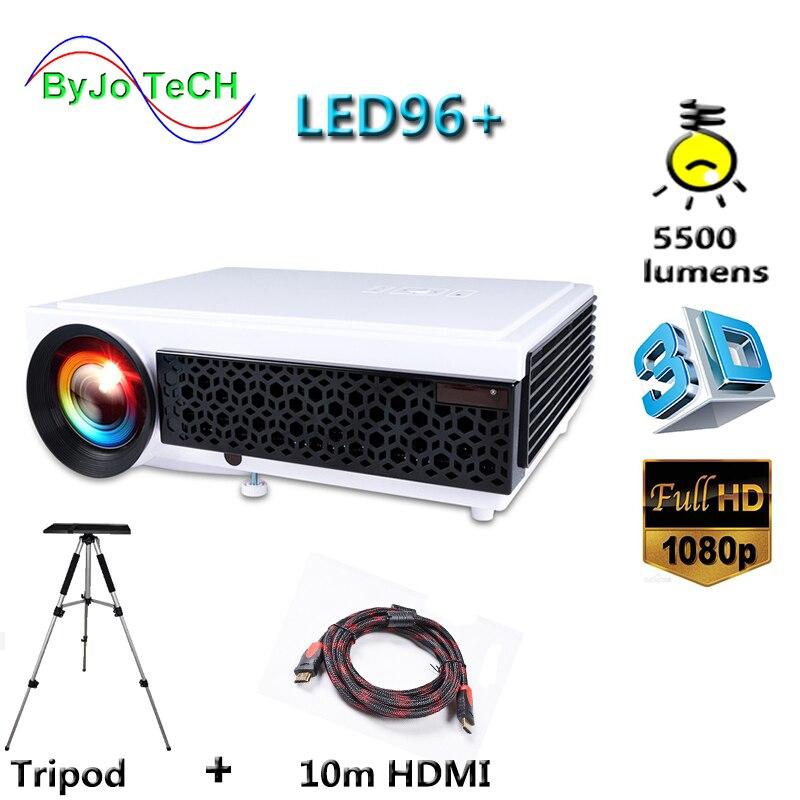 Poner Saund LED 96 + projecteur LED 5500 Lumen projecteur Full HD 1080 P avec 10 m HDMI trépied 3D Proyector LCD Vs LED 96 bt96 m5