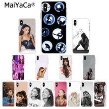MaiYaCa Cat Ar Ariana Grande DIY Luxury High-end Protector Case for Apple iPhone 8 7 6 6S Plus X XS MAX 5 5S SE XR Cellphones(China)