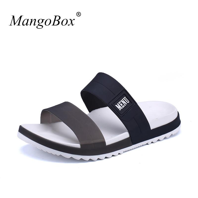 Sandálias planas Para Homens Baratos Sapatos De Praia De Borracha - Sapatos masculinos - Foto 5