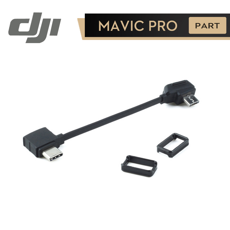 DJI Mavic RC Cable ( Type-C Connector ) for Connect Phone to Remote Controller Type C Connector Mavic Pro Original Accessories 30cm otg data cable for dji spark mavic 2 pro zoom air mavic pro micro usb type c adapter connector phone tablet to controller