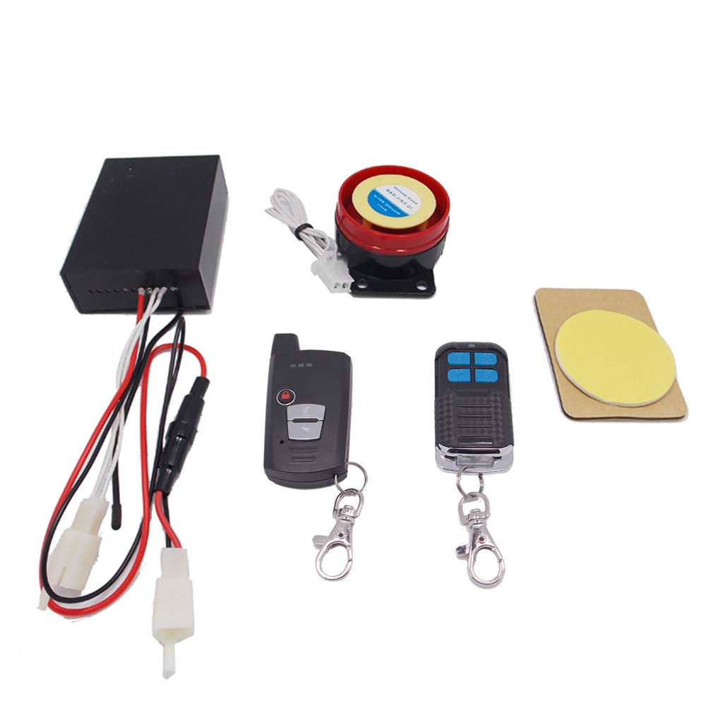 Two Way Motorcycle Vibriation Alarm Remote Start 12v Scooter Motor Remot Anti Theft Kit With Keyless Control 2 Both Handheld Controlled And Unit Will Once Vehicle Is Moved