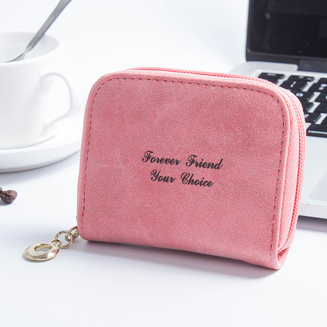 d041f3547f1f Leather Coin Purse Plush Cute Small Change Purses Wallet Coin Bag Card  Holders Women Pouch Mini
