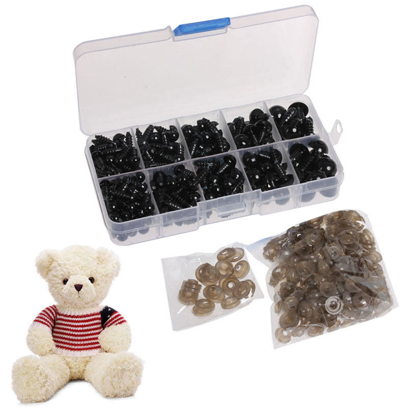 2017 6-12MM Doll Eyes for Bear Stuffed Toys Snap Scrapbooking Puppet DIY Craft 240PCS APR24_17 fancytrader biggest in the world pluch bear toys real jumbo 134 340cm huge giant plush stuffed bear 2 sizes ft90451