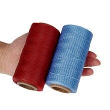 260 metrów skóra szycie woskowana nić przewód skóra Craft, 150D ciąg Dacron linia nici skórzane szwy narzędzie DIY materiał