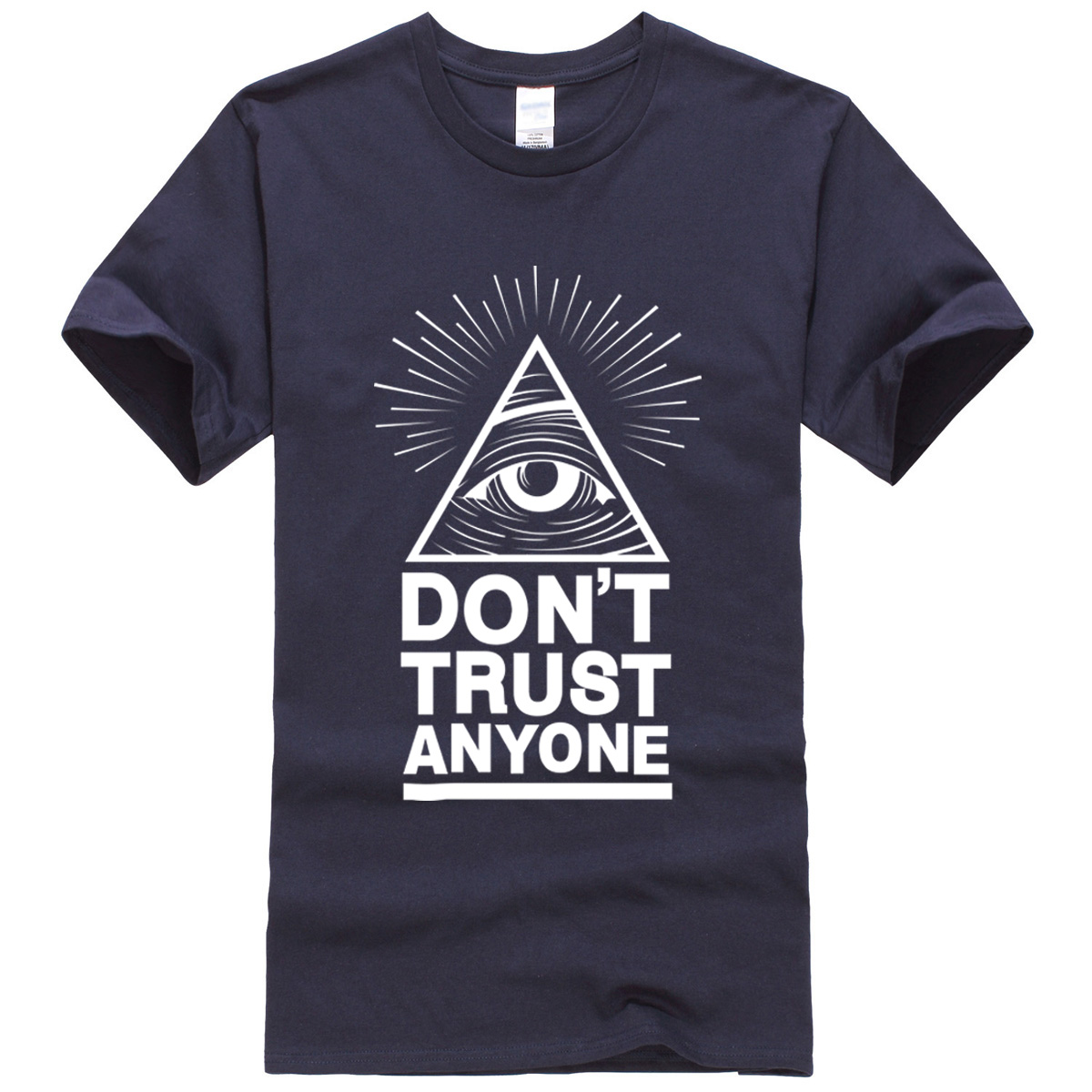 summer 2019 men's   T  -  shirts   Dont Trust Anyone Illuminati All Seeing Eye   T  -  shirt   letter pattern   t     shirt   crossfit suit tops tees
