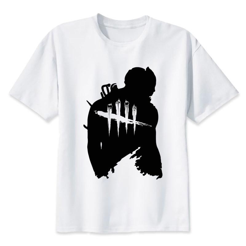 Dead By Daylight T-shirt men summer t-shirt boy print tshirt anime t shirt brand clothing white color tops tees MR1115 ...