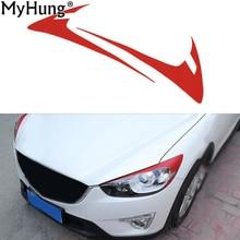 Car Sticker Eyebrow Decoration Sticker For Mazda 2012 2016 CX5Carbon Fiber Headlight Front font b Lamp
