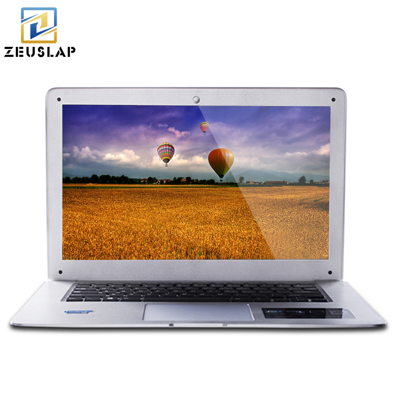 ZEUSLAP 14inch 8GB RAM 64GB SSD 500GB HDD Windows 7 10 System Dual Disk Intel Quad